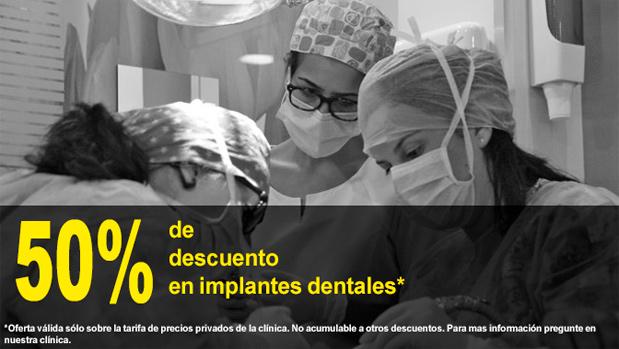 50% descuento en implantes dentales en Getafe