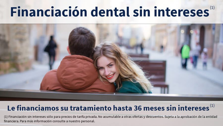 financiamos su tratamiento dental hasta 36 meses sin intereses